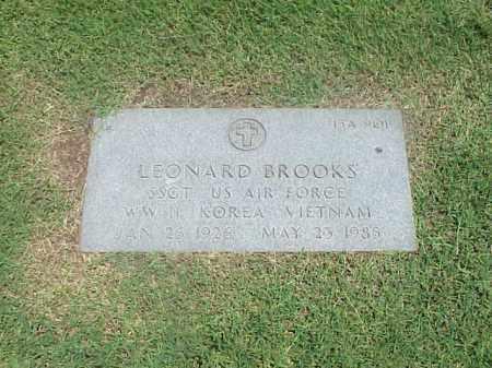 BROOKS (VETERAN 3 WARS), LEONARD - Pulaski County, Arkansas   LEONARD BROOKS (VETERAN 3 WARS) - Arkansas Gravestone Photos