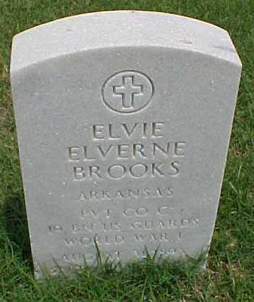BROOKS (VETERAN WWI), ELVIE ELVERNE - Pulaski County, Arkansas | ELVIE ELVERNE BROOKS (VETERAN WWI) - Arkansas Gravestone Photos