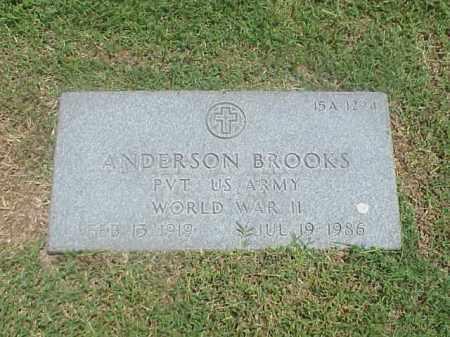 BROOKS (VETERAN WWII), ANDERSON - Pulaski County, Arkansas | ANDERSON BROOKS (VETERAN WWII) - Arkansas Gravestone Photos