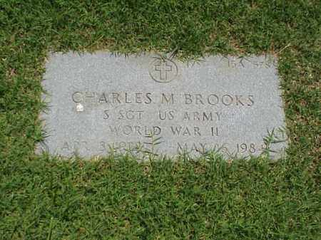 BROOKS (VETERAN WWII), CHARLES M - Pulaski County, Arkansas | CHARLES M BROOKS (VETERAN WWII) - Arkansas Gravestone Photos