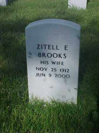 BROOKS, ZITELL E - Pulaski County, Arkansas | ZITELL E BROOKS - Arkansas Gravestone Photos