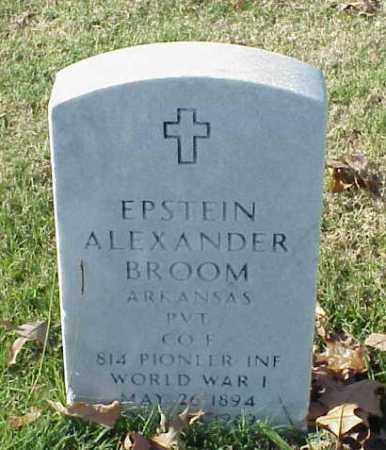 BROOM (VETERAN WWI), EPSTEIN ALEXANDER - Pulaski County, Arkansas | EPSTEIN ALEXANDER BROOM (VETERAN WWI) - Arkansas Gravestone Photos