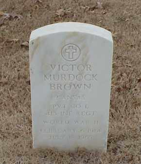 BROWN  (VETERAN WWII), VICTOR MURDOCK - Pulaski County, Arkansas | VICTOR MURDOCK BROWN  (VETERAN WWII) - Arkansas Gravestone Photos