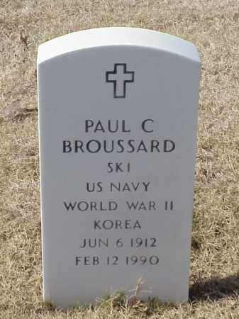 BROUSSARD (VETERAN 2 WARS), PAUL C - Pulaski County, Arkansas | PAUL C BROUSSARD (VETERAN 2 WARS) - Arkansas Gravestone Photos