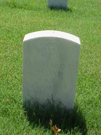 BROWN (VETERAN), LEONARD E - Pulaski County, Arkansas | LEONARD E BROWN (VETERAN) - Arkansas Gravestone Photos
