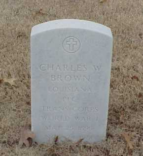 BROWN  (VETERAN WWI), CHARLES W - Pulaski County, Arkansas | CHARLES W BROWN  (VETERAN WWI) - Arkansas Gravestone Photos