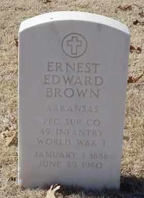 BROWN  (VETERAN WWI), ERNEST EDWARD - Pulaski County, Arkansas   ERNEST EDWARD BROWN  (VETERAN WWI) - Arkansas Gravestone Photos