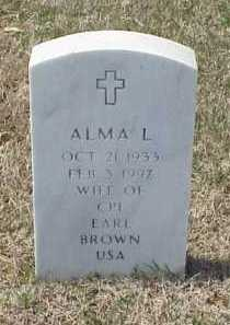 BROWN, ALMA L - Pulaski County, Arkansas | ALMA L BROWN - Arkansas Gravestone Photos