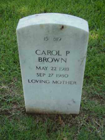 BROWN, CAROL P - Pulaski County, Arkansas | CAROL P BROWN - Arkansas Gravestone Photos