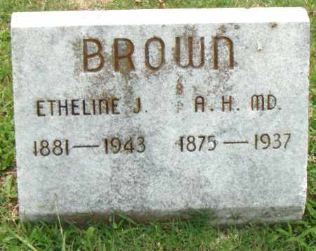 BROWN, ETHELINE J. - Pulaski County, Arkansas | ETHELINE J. BROWN - Arkansas Gravestone Photos