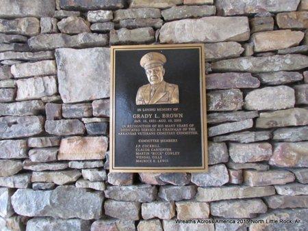 *BROWN. GRADY L MEMORIAL,  - Pulaski County, Arkansas    *BROWN. GRADY L MEMORIAL - Arkansas Gravestone Photos