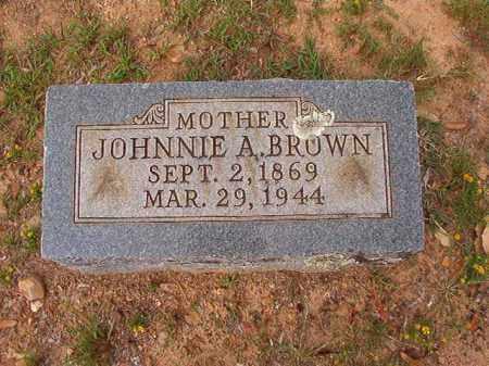 BROWN, JOHNNIE A - Pulaski County, Arkansas | JOHNNIE A BROWN - Arkansas Gravestone Photos