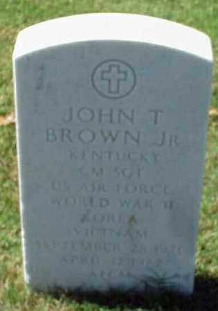 BROWN, JR (VETERAN 3 WARS), JOHN T - Pulaski County, Arkansas | JOHN T BROWN, JR (VETERAN 3 WARS) - Arkansas Gravestone Photos