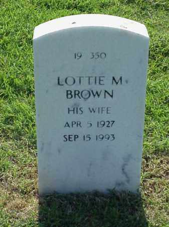 BROWN, LOTTIE M - Pulaski County, Arkansas | LOTTIE M BROWN - Arkansas Gravestone Photos