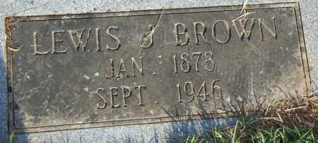 BROWN, LEWIS  J. - Pulaski County, Arkansas | LEWIS  J. BROWN - Arkansas Gravestone Photos