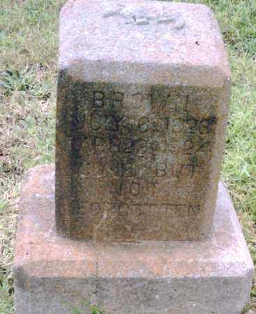BROWN, UNKNOWN - Pulaski County, Arkansas | UNKNOWN BROWN - Arkansas Gravestone Photos