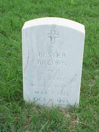 BROWN (VETERAN WWII), BESTER - Pulaski County, Arkansas | BESTER BROWN (VETERAN WWII) - Arkansas Gravestone Photos