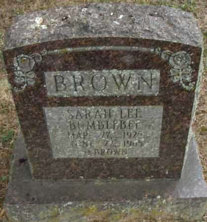 "BROWN, SARAH LEE ""BUMBLEBEE"" - Pulaski County, Arkansas 