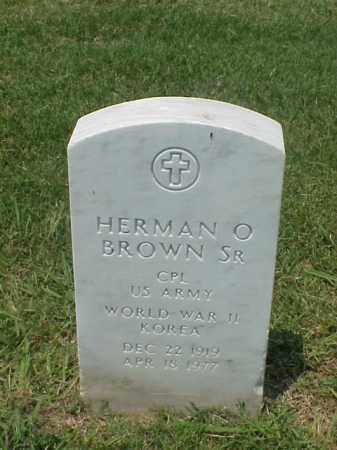 BROWN, SR (VETERAN 2 WARS), HERMAN O - Pulaski County, Arkansas | HERMAN O BROWN, SR (VETERAN 2 WARS) - Arkansas Gravestone Photos