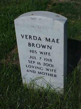 BROWN, VERDA MAE - Pulaski County, Arkansas | VERDA MAE BROWN - Arkansas Gravestone Photos