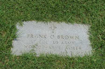 BROWN (VETERAN 2 WARS), FRANK OTTO - Pulaski County, Arkansas | FRANK OTTO BROWN (VETERAN 2 WARS) - Arkansas Gravestone Photos