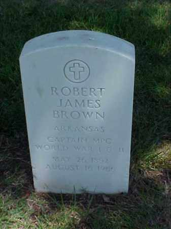 BROWN (VETERAN 2 WARS), ROBERT JAMES - Pulaski County, Arkansas | ROBERT JAMES BROWN (VETERAN 2 WARS) - Arkansas Gravestone Photos