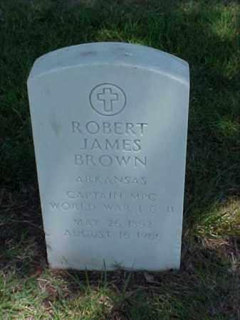 BROWN (VETERAN 2 WARS), ROBERT JAMES - Pulaski County, Arkansas | ROBERT JAMES BROWN (VETERAN 2 WARS) - Arkansas Gravestone Photos