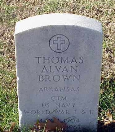 BROWN (VETERAN 2 WARS), THOMAS ALVAN - Pulaski County, Arkansas | THOMAS ALVAN BROWN (VETERAN 2 WARS) - Arkansas Gravestone Photos