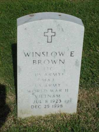 BROWN (VETERAN 2 WARS), WINSLOW E - Pulaski County, Arkansas | WINSLOW E BROWN (VETERAN 2 WARS) - Arkansas Gravestone Photos