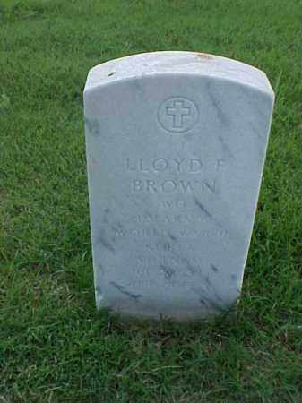 BROWN (VETERAN 3 WARS), LLOYD F - Pulaski County, Arkansas | LLOYD F BROWN (VETERAN 3 WARS) - Arkansas Gravestone Photos