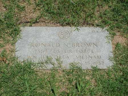 BROWN (VETERAN 3 WARS), RONALD N - Pulaski County, Arkansas | RONALD N BROWN (VETERAN 3 WARS) - Arkansas Gravestone Photos