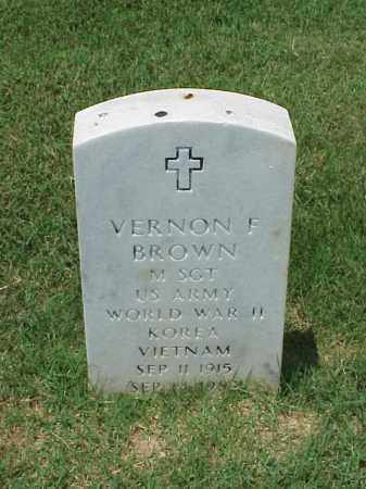 BROWN (VETERAN 3 WARS), VERNON F - Pulaski County, Arkansas | VERNON F BROWN (VETERAN 3 WARS) - Arkansas Gravestone Photos