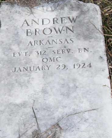 BROWN (VETERAN), ANDREW - Pulaski County, Arkansas | ANDREW BROWN (VETERAN) - Arkansas Gravestone Photos