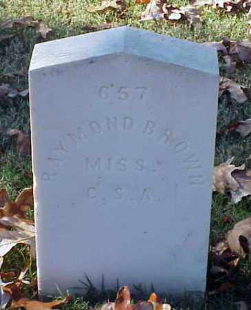 BROWN (VETERAN CSA), RAYMOND - Pulaski County, Arkansas | RAYMOND BROWN (VETERAN CSA) - Arkansas Gravestone Photos