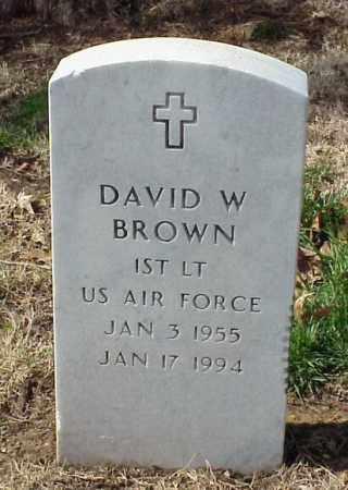 BROWN (VETERAN), DAVID W - Pulaski County, Arkansas | DAVID W BROWN (VETERAN) - Arkansas Gravestone Photos