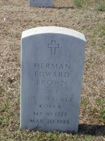 BROWN (VETERAN KOR), HERMAN EDWARD - Pulaski County, Arkansas | HERMAN EDWARD BROWN (VETERAN KOR) - Arkansas Gravestone Photos