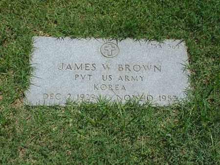 BROWN (VETERAN KOR), JAMES W - Pulaski County, Arkansas | JAMES W BROWN (VETERAN KOR) - Arkansas Gravestone Photos