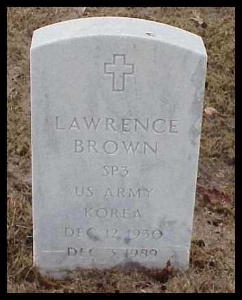 BROWN (VETERAN KOR), LAWRENCE - Pulaski County, Arkansas | LAWRENCE BROWN (VETERAN KOR) - Arkansas Gravestone Photos