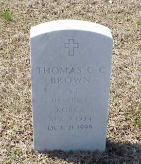 BROWN (VETERAN KOR), THOMAS C C - Pulaski County, Arkansas | THOMAS C C BROWN (VETERAN KOR) - Arkansas Gravestone Photos