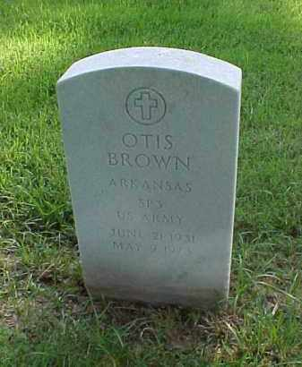 BROWN (VETERAN), OTIS - Pulaski County, Arkansas | OTIS BROWN (VETERAN) - Arkansas Gravestone Photos