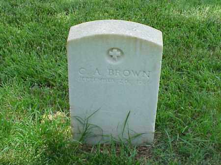 BROWN (VETERAN UNION), C A - Pulaski County, Arkansas | C A BROWN (VETERAN UNION) - Arkansas Gravestone Photos
