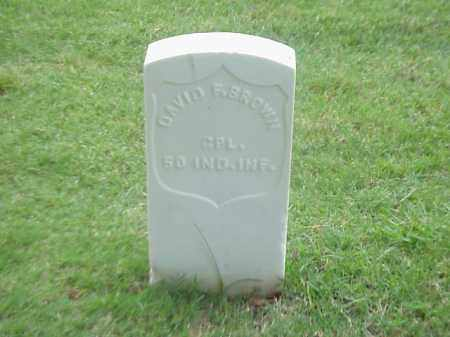 BROWN (VETERAN UNION), DAVID F - Pulaski County, Arkansas | DAVID F BROWN (VETERAN UNION) - Arkansas Gravestone Photos