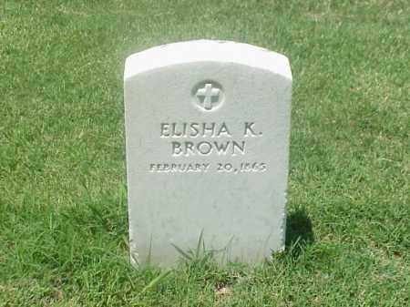 BROWN (VETERAN UNION), ELISHA K - Pulaski County, Arkansas | ELISHA K BROWN (VETERAN UNION) - Arkansas Gravestone Photos