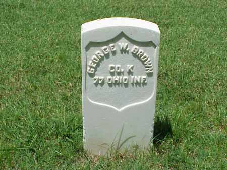 BROWN (VETERAN UNION), GEORGE W - Pulaski County, Arkansas | GEORGE W BROWN (VETERAN UNION) - Arkansas Gravestone Photos