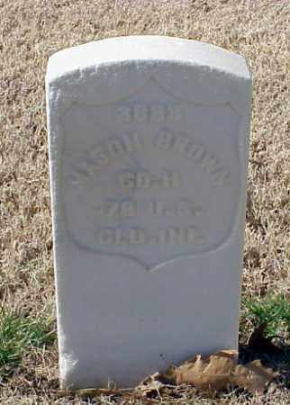 BROWN (VETERAN UNION), MASON - Pulaski County, Arkansas | MASON BROWN (VETERAN UNION) - Arkansas Gravestone Photos