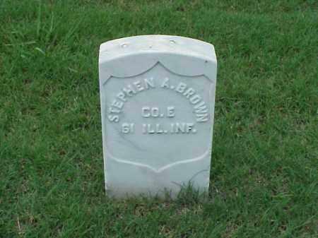 BROWN (VETERAN UNION), STEPHEN A - Pulaski County, Arkansas | STEPHEN A BROWN (VETERAN UNION) - Arkansas Gravestone Photos