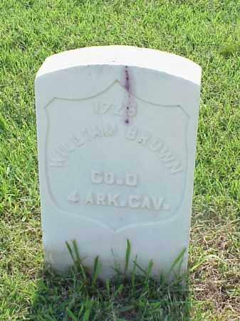 BROWN (VETERAN UNION), WILLIAM - Pulaski County, Arkansas   WILLIAM BROWN (VETERAN UNION) - Arkansas Gravestone Photos
