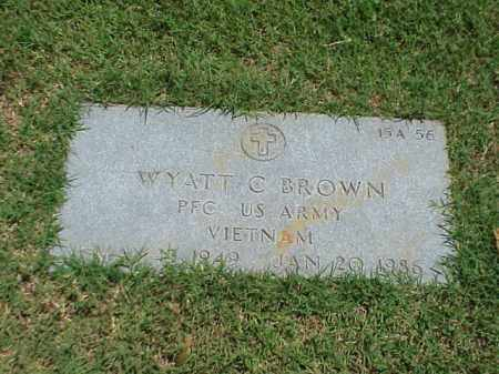 BROWN (VETERAN VIET), WYATT C - Pulaski County, Arkansas | WYATT C BROWN (VETERAN VIET) - Arkansas Gravestone Photos