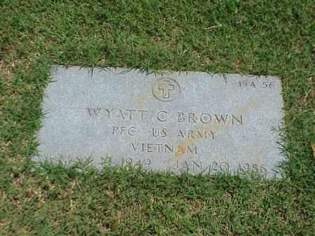 BROWN (VETERAN VIET), WYATT C - Pulaski County, Arkansas   WYATT C BROWN (VETERAN VIET) - Arkansas Gravestone Photos