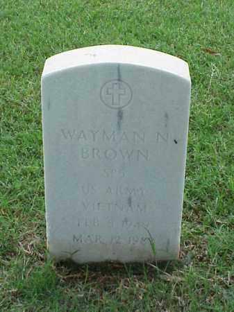 BROWN (VETERAN VIET), WAYMAN N - Pulaski County, Arkansas | WAYMAN N BROWN (VETERAN VIET) - Arkansas Gravestone Photos